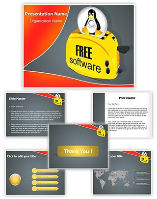 Linux Software Editable PowerPoint Template