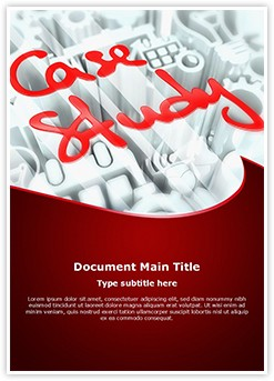 Case Study Editable Word Template