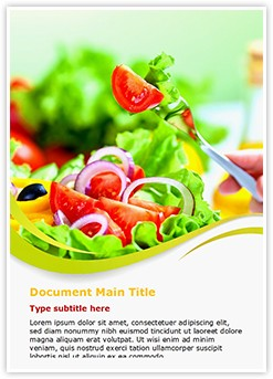 Healthy fruit salad Diet Editable Word Template