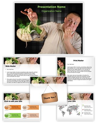 Stinking Shoe Editable PowerPoint Template