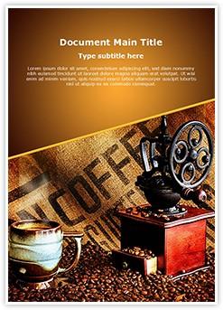 Coffee Grinder Editable Word Template