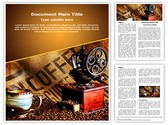 Coffee Grinder Editable Word Template