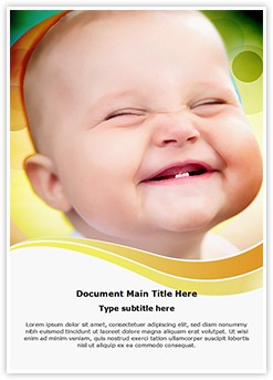 Cute Smile Editable Word Template