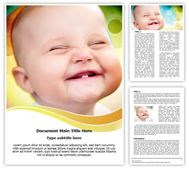 Cute Smile Editable Word Document Template