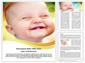 Cute Smile Editable Word Template