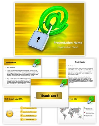 Email Security Editable PowerPoint Template