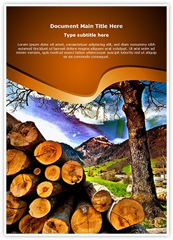 Deforestation Editable Word Template