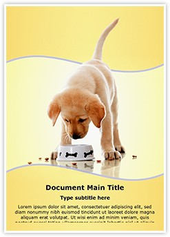Dog Food Editable Word Template