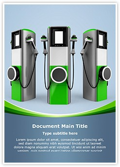 Electric Car Charging Station Editable Word Template