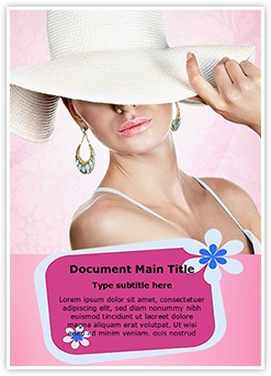 Elegant Woman Editable Word Template