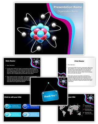 Atom Particles Editable PowerPoint Template