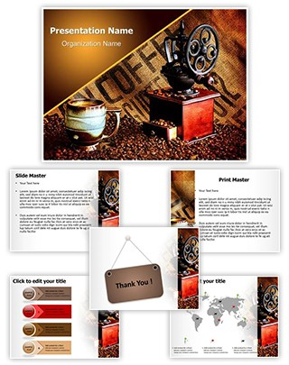 Coffee Grinder Editable PowerPoint Template