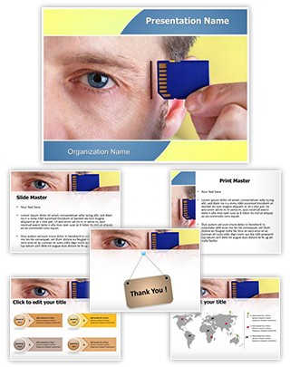 Alzheimers Computer Chip Editable PowerPoint Template