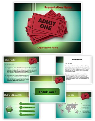 Theatre Ticket Editable PowerPoint Template