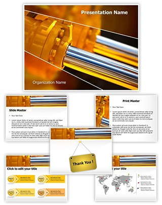Hydraulic Pistons Editable PowerPoint Template