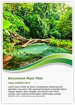 Jungle green Editable Word Template