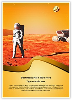 Astronaut on Mars Editable Word Template