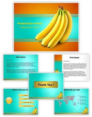 Bananas Fruit Editable PowerPoint Template
