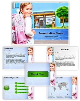 Love My School Editable PowerPoint Template