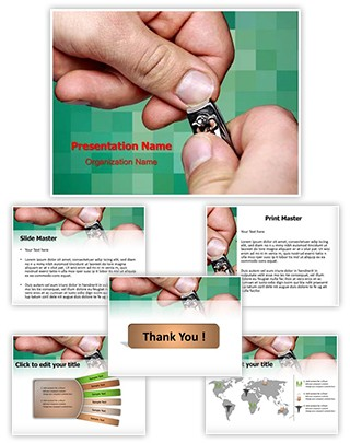 Cutting Nails Editable PowerPoint Template