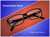 Eye Glasses Editable PowerPoint Template