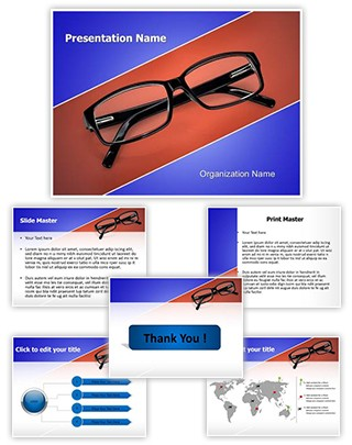 Eye Glasses Editable PowerPoint Template
