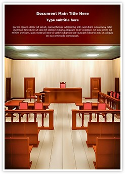 Courtroom Editable Word Template