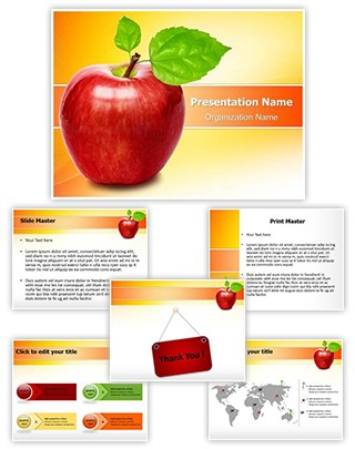 Fresh Apple Editable PowerPoint Template