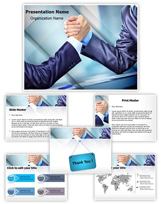 Aggressive Business Competition Editable PowerPoint Template