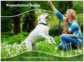 Dog Human Friendship Editable PowerPoint Template