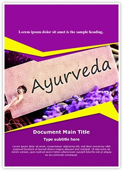 Ayurveda Editable Word Template