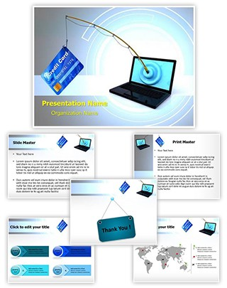 Online Phishing Editable PowerPoint Template