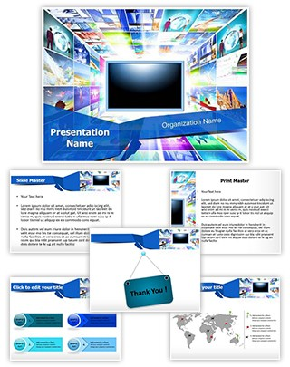 Flat Screen TV Editable PowerPoint Template