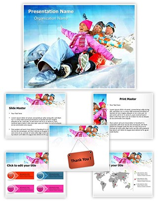Family Winter Vacation Editable PowerPoint Template
