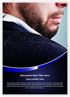 Hair Dandruff Shoulder Editable Word Template