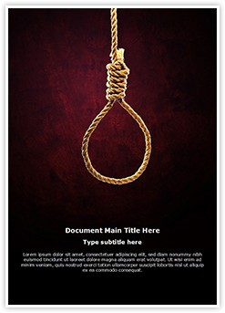 Hangmans Knot Editable Word Template
