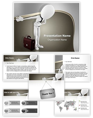 3D Take a bow Editable PowerPoint Template