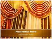 Window Curtain Editable PowerPoint Template