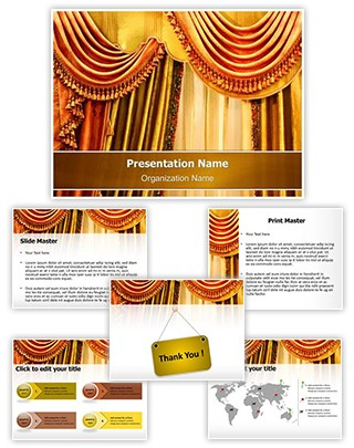 Window Curtain Editable PowerPoint Template