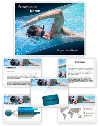Swimming Athlete Editable PowerPoint Template