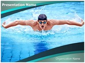 Swimmer Butterfly Stroke PowerPoint Templates