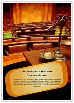 Courtroom Scale Editable Word Template