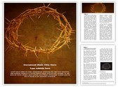 Crown of Thorns Editable Word Template