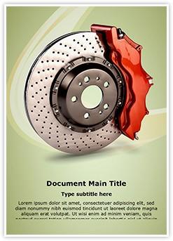 Disk Brake Editable Word Template