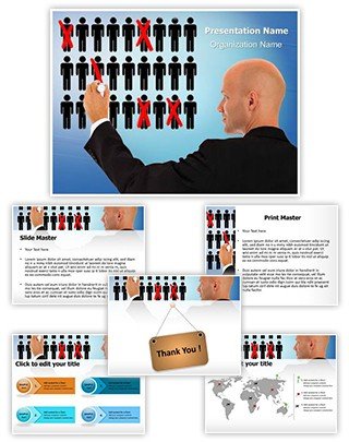 Recession Cutting Jobs Editable PowerPoint Template