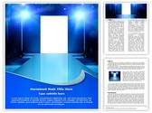 Fashion Show Stage Editable Word Template