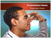 Pinching Nose PowerPoint Templates