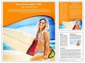 Female Surfer Editable Word Template