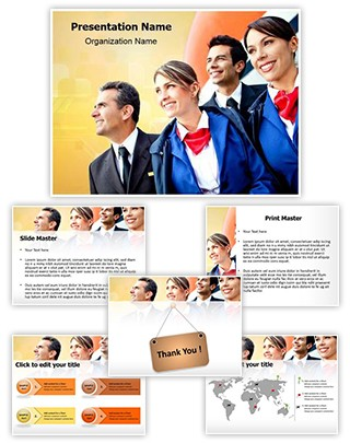 Airplane Crew Editable PowerPoint Template