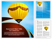 Hot Air Balloon Editable Word Template